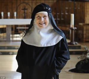 Actress turned Benedictine cloistered nun Mother Dolores in the Abbey of Regina Laudis