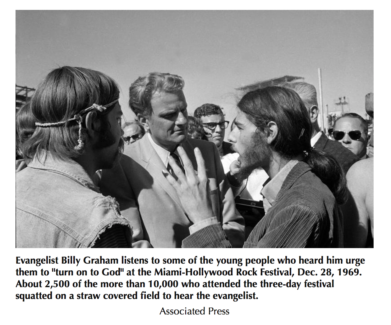 Billy Graham, hippies, and the rock concert